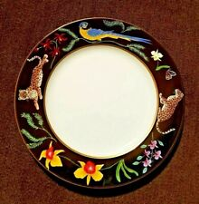 "Jaguar Jungle by Lynn Chase Salad Plate 8 1/8"", Brand New"