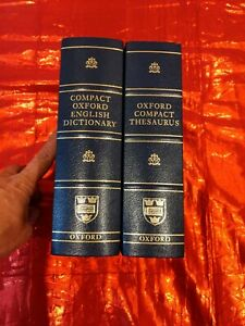Compact Oxford Dictionary and Thesaurus Two volume set 3rd Edition 2008