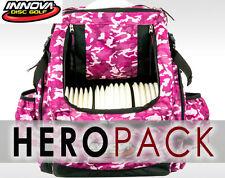 INNOVA HEROPACK BACK PACK BAG INCLUDES: CRDG HEADER (HOLDS 25 DISCS) PINK-CAMO