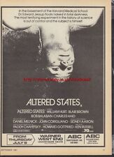 Altered States Cinema 1981 Magazine Advert #299