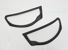 MATTE MATT BLACK COVER HEAD LIGHT TRIM PAIR FOR MITSUBISHI TRITON L200 2005-2010