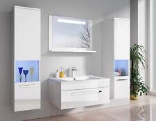 Badmöbel-Set Hochglanz Schwarz oder Weiß LED-Touch-Spiegel 3 / 4 /5 tlg. Amrum