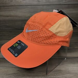 Nike Dri-fit Aerobill Tailwind Running Hat Orange Adjustable Cap (BV2204 811)