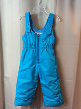 OBERMEYER Snoveral Turquoise Blue Insulated Snow Ski Bibs Pants Baby Girls 2 2T