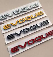 Range Rover Evoque Rear Tail Gate Badge Name Plate Emblem Black Genuine New