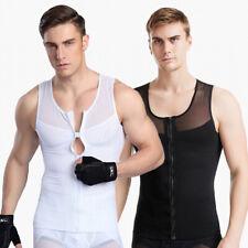 Men Slim Body Shaper Posture Corrector Vest Abdomen Compression Undershirt Tops