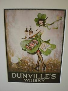 """Reproduced Vintage Adverts - """"Dunville's Whisky""""  circa 1925"""" showcard"""