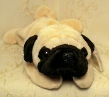Ty Original Beanie Baby Dog Pugsly Collectible Puppy Stuffed Animal Plush Toy