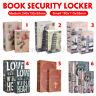 S/M Büchersafe mit Schlüssel Buchattrappe Tresor Safe Geheimversteck