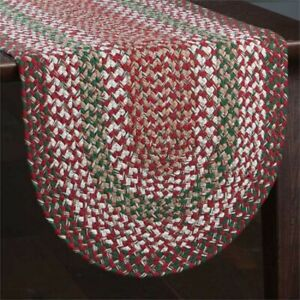 """Park Designs Holly Berry Braided Table Runner 15"""" x 54"""" Christmas Holiday Red"""