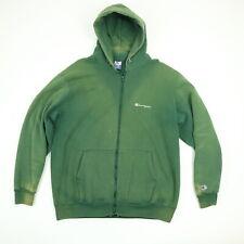 Vtg Champion Sweatshirt Hoodie Jacket 2XL Sun Wash Faded Green Distressed USA Md