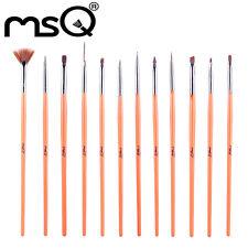 MSQ 12PCs Nail Art Brush Set Professional Quality Synthetic Hair Women Beauty UK