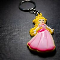 Princess Peach Sonic PVC Kawaii Cute Cartoon Novelty Keyring Keychain Gift Bag