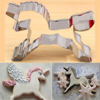 Stainless Steel Unicorn Horse Fondant Cake Mould Cookies Cutter Mold Tool Decor