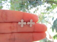 .30 Carat Diamond White Gold Cross Earrings 14k codeEx62 sep