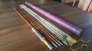 South Bend Bamboo Fly Rod 59 - 9' 3 Piece w/ Extra Tip.