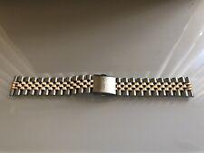 Watchgecko Geckota Warrington 20mm jubilee watch strap two tone gold and silver