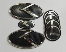 7pcs 3D black carbon K Emblem for KIA new Forte YD K3 2014-2016