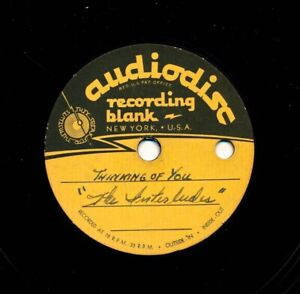78 rpm - RARE DooWop Acetate - The INTERLUDES - Thinking of You / Papa Cool