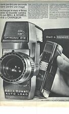 PUBLICITE ADVERTISING 1963  BELL & HOWELL caméra 8mm 418 à chargeur
