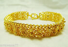 22K 24K Thai Baht Yellow Gold Plated Pikun FlowerThai Bracelet Women Jewelry