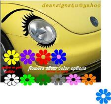 Car eyeLASHes SET for headlight lower EYELASH Eye BROW vw bug Conform Decal USA