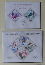 MONACO 2 Sonderblocks Olympia mit Mi-Nr 1414-18 + 1419-20 postfr  Auflage 20 000