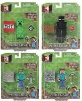 "MINECRAFT - CHOOSE YOUR FIGURE - 3"" FIGURE ENDERMAN, STEVE, ZOMBIE, CREEPER NEW"