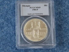 1984-P Olympic Commemorative Silver Dollar PCGS MS69 Gem BU B7624
