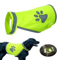 High Visibility Dog Safety Vest Reflective Hi Vis Jacket Coat Paw Print Harness
