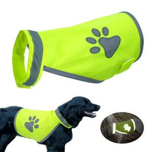 High Visibility Dog Safety Vest Reflective Hi Vis Jacket Coat Paw Print Harness