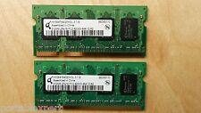 Qimonda 1GB 2X512MB PC2-4200S DDR2 533MHz Laptop Memory Ram HYS64T64020HDL