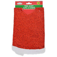 New Christmas House Holiday Red Mini Tree Skirt 18 inch ~ FREE SHIPPING