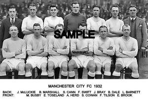 Manchester City FC  1932 Team Photo