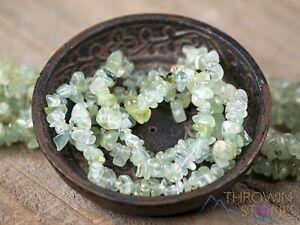 PREHNITE Crystal Bracelet, Chip Beads, Beaded Bracelet, Handmade Jewelry, E1779