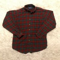 Vtg Pendleton Country Traditionals Mens Large Cotton Wool Plaid Flannel Shirt