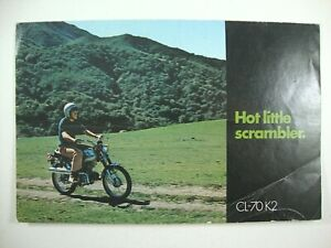 1971 HONDA CL-70 CL70-K2 70cc SCRAMBLER OEM Genuine Dealer Sales Brochure RARE!!