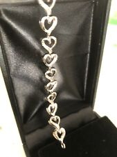 """Fine Jewelry sterling silver Tennis Braclet With Zirconia Stones 7"""""""