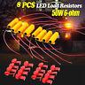 8x 50W 6 ohm Load Resistor Fix LED Bulb Fast Hyper Flash Turn Signal Blink