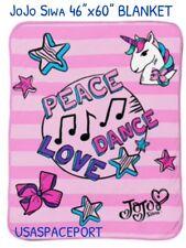 JOJO Siwa Music 46x60-inch Silk Touch UNICORN THROW Blanket Soft Plush Bedding