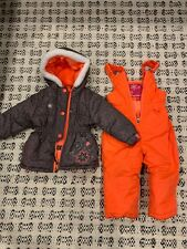 Rugged Bear Girls' 18mo snowsuit/overalls/bib pants Warm Winter outerwear hearts