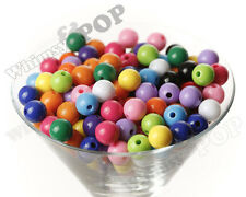 12mm - 50pcs Mixed Color Gumball Beads Bubble Gum Spacer Small Chunky US Seller