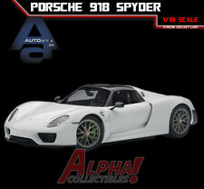 AUTOART 77926 1:18 PORSCHE 918 SPYDER GLOSSY WHITE SUPERCAR