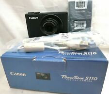 Canon PowerShot S110 compact digital Camera 5x zoom lens *black *mint