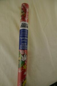 Super Mario Bros Christmas Gift Wrapping Paper, 20 SQ FT