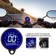 Universal Motorcycle LED LCD Digital Tachometer Speedometer Odometer Gauge Black
