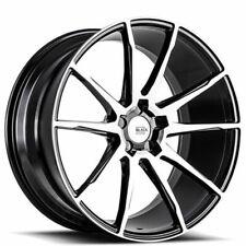 "4ea 19"" Savini Wheels BM12 Machined Black Rims (S4)"