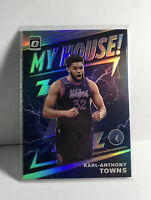 2019-20 OPTIC MY HOUSE SILVER HOLO PRIZM #2 KARL-ANTHONY TOWNS TIMBERWOLVES