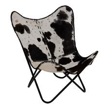 Farfalla sedia sedia BUTTERFLY Chair Pelle Ottica 75x75x87 cm