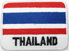 THAILAND Flag Siam Embroidered Iron On Shirt Hat Backpack Rucksack Patch Badge